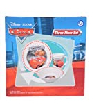 Cars 3 Pc Porcelain dinner Set in Printed Gift box, 8 oz Mug, 7.5 Rim Plate, 5.5 Bowl (No Florida)