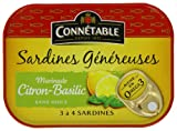 Connétable Sardines In A Lemon and Basil Marinade 140 g (Pack of 4)