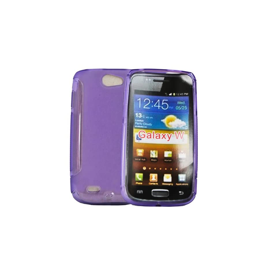 Mobile Palace  Purple gel Skin Case cover pouch for Samsung galaxy w
