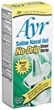 Ayr Saline Nasal Gel No-drip Sinus Spray With Soothing Aloe Vera, 0.75-Ounce Spray Bottles (Pack of 3)
