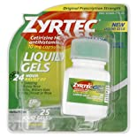 Zyrtec Allergy, Original Prescription Strength, 10 mg, Liquid Gels, 25 ct.