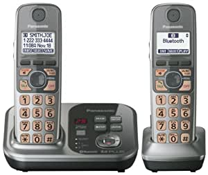 Panasonic KXTG7732CS DECT 6.0 Plus Link-to-Cell Bluetooth Two Handset with Digital Answering System