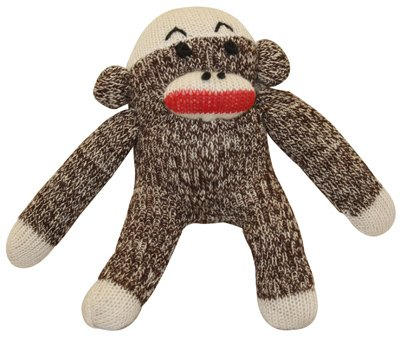 Monkey Dog Toy Squeak Sock Pals Sock Monkey Dog Toy