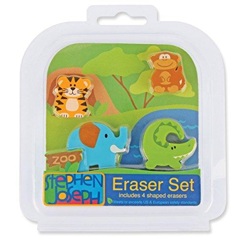 Stephen Joseph Eraser Set-Zoo