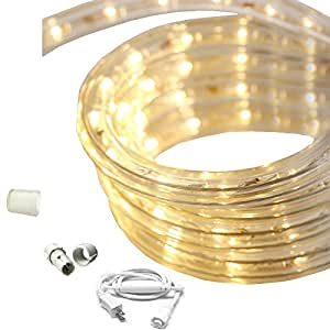 dimmable warm white led rope light kit 120v 18ft home improvement. Black Bedroom Furniture Sets. Home Design Ideas