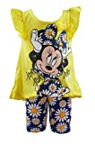 Disney Toddlers Minnie Mouse Daisy Prints 2 Piece Bike Shorts Set