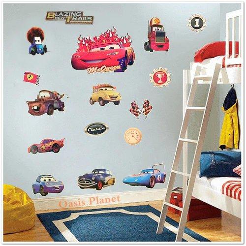 Walplus Autocollants muraux Cars Disney Pixar Flash McQueen pour chambre d'en