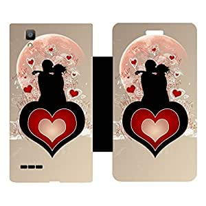 Phone Candy Designer Flip Cover with hi-res printed Vinyl sticker wrap-around for Oppo F1