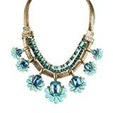 NEVI European Fashion Blue Designer Necklace Jewellery for Women