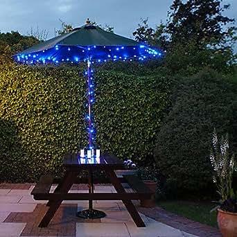 Linyrh 100 Blue Outdoor Led Solar Fairy Lights Christmas