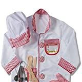 Child's Halloween Chef Role Play Costume Set, Chef's Jacket, Hat, Oven Mitt