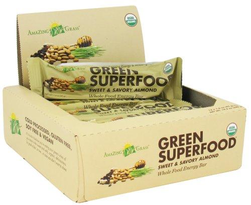 Greens Organics Superfood Whole Food Energy Bar-Sweet & Savory Almond-Box Amazi