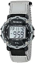 Armitron Sport Men's 40/8291BKGY Black Velcro Strap Grey Digital Chronograph Sport Watch