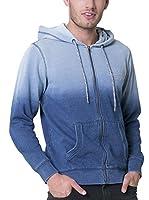 BIG STAR Sudadera con Cierre Worner_Zip_Hood_Sweat 452 L (Azul)