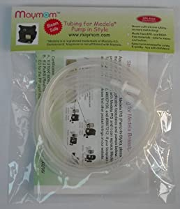 Steam-safe Tubing (Retail Pack of 2) for Medela Pump in Style and New Pump in Style Advanced Breast Pump - 100% BPA Free, Replacement Parts for Medela Part # 87212, 8007212, 8007156; Will Not Melt in Medela Micro Steam Bag.