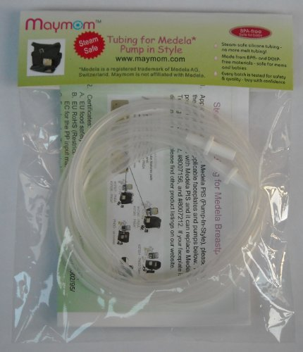 Steam-Safe Tubing (Retail Pack Of 2) For Medela Pump In Style And New Pump In Style Advanced Breast Pump - 100% Bpa Free, Replacement Parts For Medela Part # 87212, 8007212, 8007156; Will Not Melt In Medela Micro Steam Bag. front-57436