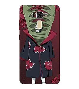 EPICCASE Naruto Shippuden Zetsu Mobile Back Case Cover For Asus Zenfone 2 Laser ZE551KL (Designer Case)