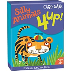 Amazon.com: CG4 - 4 Up! Silly Animals Card Game (Cards): Peaceable Kingdom Press, Valeria Petrone: Books