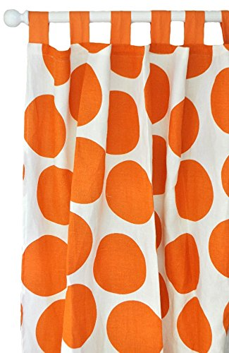 New Arrivals Curtain Panels, Spot on in Tangerine, 2 Count