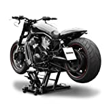 Motorcycle lift ConStands Mid-Lift L black for Harley Davidson Night Train (FXSTB), Night-Rod/ Special (VRSCDX)/(VRSCD), Road King (FLHR/I), Road King Classic/ Custom (FLHRC/I)/(FLHRSI)