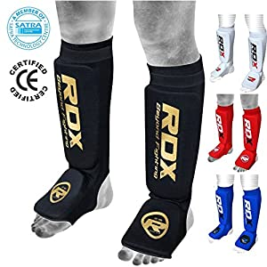 RDX MMA Shin Instep Foam Pad Support Boxing Leg Guards Foot Protective Gear Kickboxing (CE Certified Approved by SATRA)