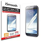 Samsung Galaxy Note 2 Screen Protector - NEW 2014 Ultra Premium HD Version - 3 PACK Ultra Clear - iSmooth - Free Lifetime Replacement Guarantee - Bubble Free Installation Guaranteed - Package Includes BONUS Premium Microfiber Cleaning Cloth, Four (4) Dust Removal Stickers, Installation Tips with Video, and Three (3) Ultra Clear Screen Protectors