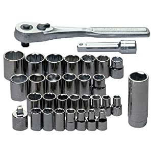 Craftsman 9-34740 32 Piece 1/4-3/8 Drive Standard/Metric Socket Wrench Set by Craftsman