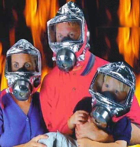 KIKAR Emergency Escape Hood Oxygen Mask Respirator 60 Minutes Fire Smoke Toxic Filter