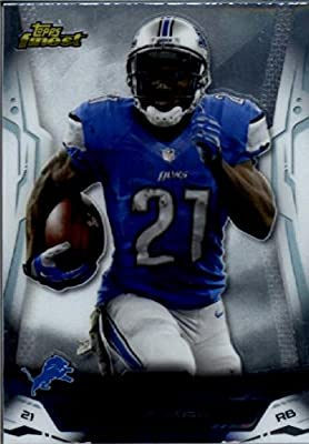 2014 Topps Finest Football Card #14 Reggie Bush Detroit Lions MINT