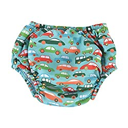 Little Dolfins Swim Diaper-VROOM VROOM 2T