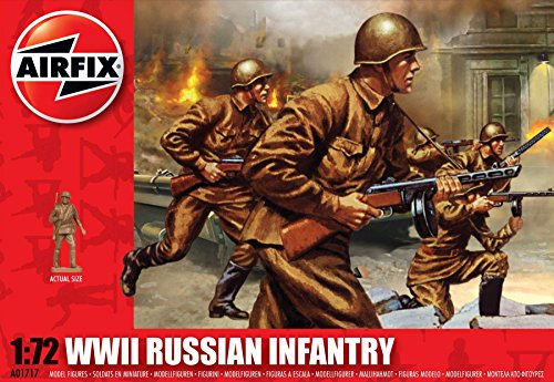 Airfix A01717 WWII Russian Infantry Building Kit, 1:72 Scale
