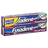 Fixodent Food Seal Denture Adhesive Cream, Dawn to Dark, Plus Scope Flavor, 2 - 2 oz (57 g) packs