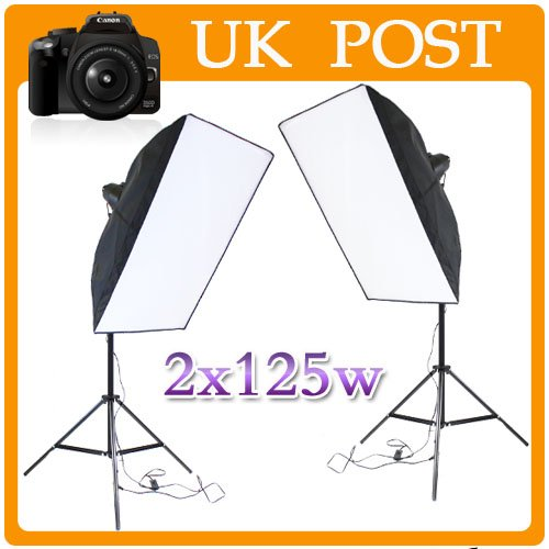 HSN 125W Photography Studio Continuous Lighting Soft Light Kit