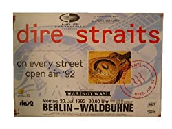 Dire Straits Concert Poster The Berlin 1992