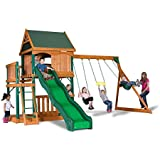 Backyard Discovery Montego Bay All Cedar Swingset Playset, Bronze