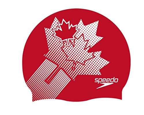 Speedo Flat SILC CAP AU Cuffia, Multicolore (Canada Flag), Taglia Unica