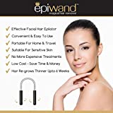 Epiwand Facial Hair Epilator For Women - Effectively Remove Unwanted Face Hair Without The Use of Tweezers or Expensive Laser Treatment, Waxing & Threading Systems - Complete with Box & Instructions.