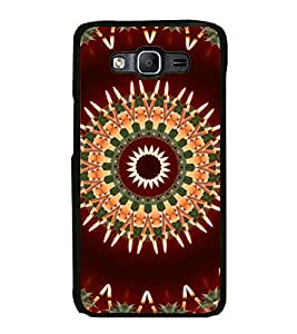 iFasho Animated Pattern design colorful flower in royal style Back Case Cover for Samsung Galaxy E5