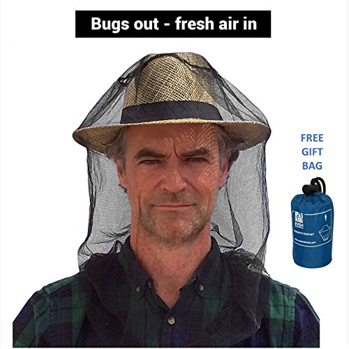 Premium Mosquito Head Net by #1 EVEN Naturals | Free Carry & Gift Bag & Free eBook |100% Satisfaction Guarantee | Insect Malaria Repellent Netting | Soft Fly Screen Protection (Natural Net compare prices)