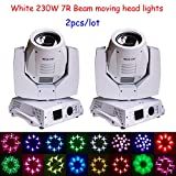 Shipping from US 2pcs White lamp 230W 7R Sharpy beam moving head Light for sale