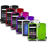 6in1 Combo Color Rubberized Hard Snap-on Protector Shell Case Face Plate Cover For Sony Ericsson Xperia Play R800