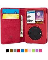 英国Snugg社 iPod Classic 用 手帳型 PUレザーケース - 生涯補償付き (レッド)