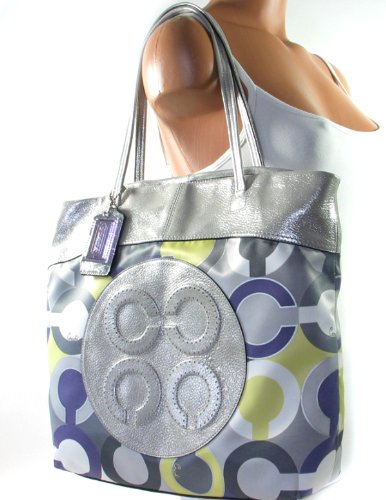 Coach Julia Perry Op Art Scarf Print Tote Bag Handbag Style 14970