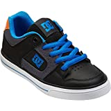 DC Pure Skate Shoe (Little Kid/Big Kid),Black/Grey/Blue,5 M US Big Kid