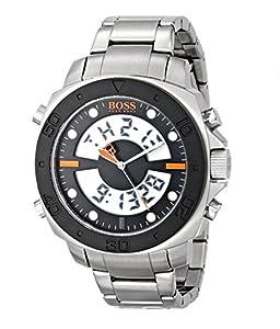 Boss Orange Herren-Armbanduhr XL Digital Quarz Edelstahl 1512843