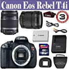 Canon EOS Rebel T4i 18.0 MP CMOS Digital Camera with 18-135mm EF-S IS STM Lens & EF-S 55-250mm IS II Lens + 16 GIG Memory Card - Holster Case - 3 Year Warranty by 33 Street Camera