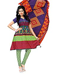 TulsiCloth Women Cotton Unstitched Dress Material(TCPL918_Multicolour)