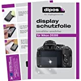 dipos Nikon D5300 Schutzfolie (6 Stück) - kristallklare Premium Folie Crystalclear