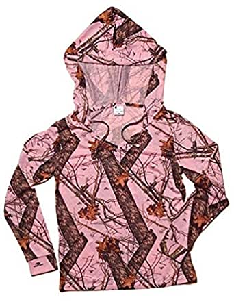 Pink Camo Mossy Oak Breakup Hooded Pullover (Womens - Small) 605935