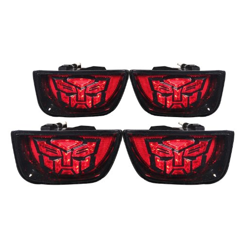 Anzousa 321282 Autobot Clear Led Taillight For Camaro - (Sold In Pairs)